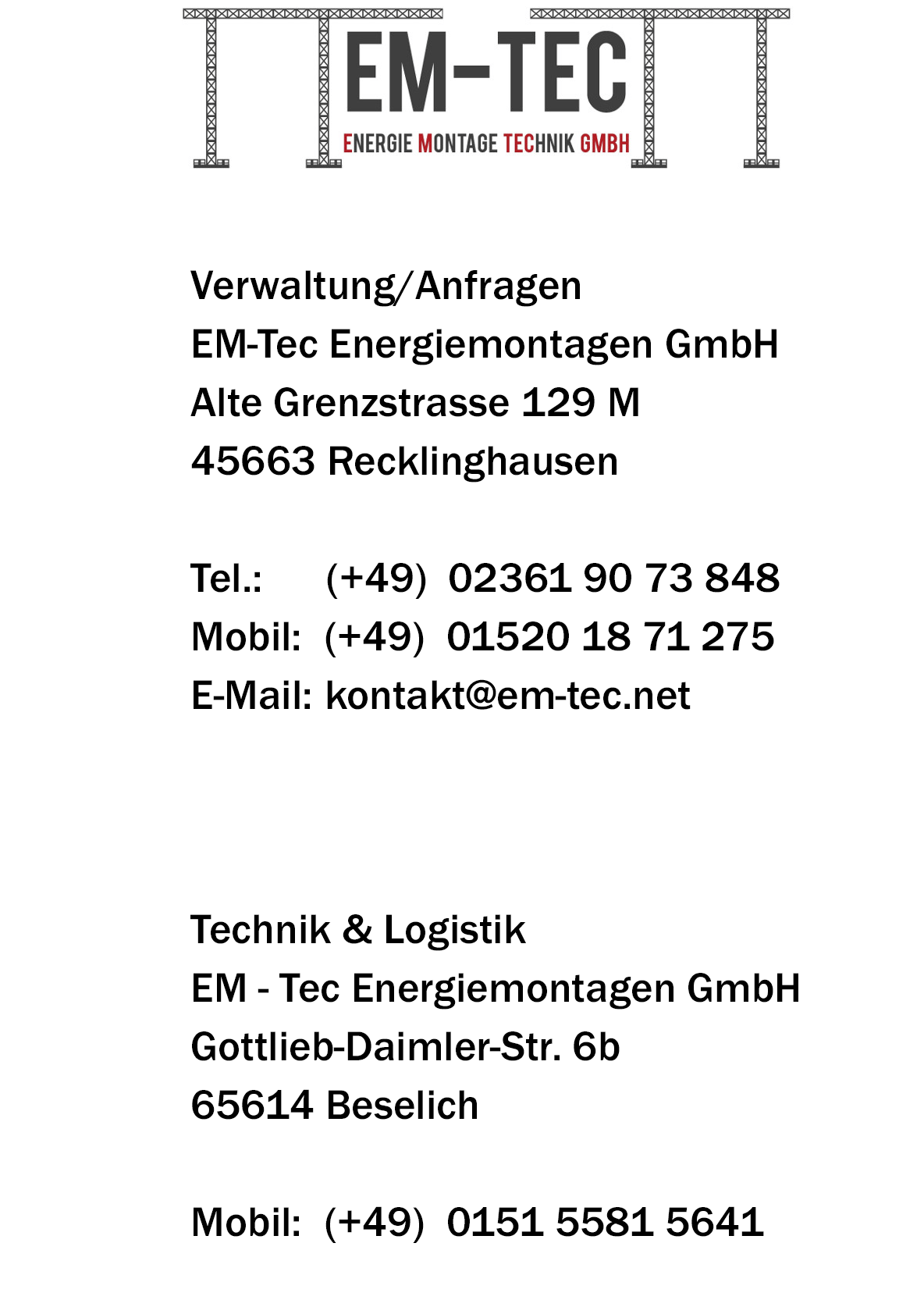 Kontakt Bodo Hanspach